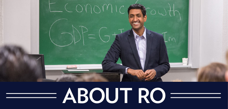 Ro Khanna teaching. Ro is running against Mike Honda.